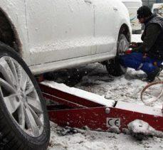 Lastik satıcıları ve tamircilerde 'kar' yoğunluğu