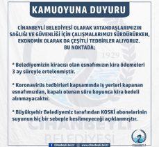 Cihanbeyli Belediye Virüs Tedbirleri