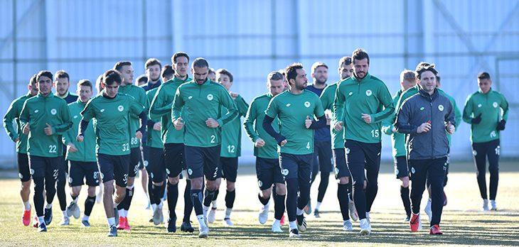 İttifak Holding Konyaspor   Y.Malatyaspor maçı hazırlıklarına başladı